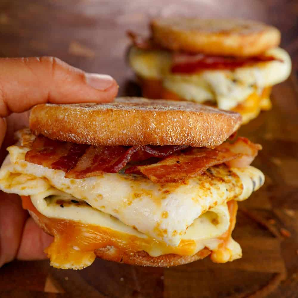 Egg White Bacon Sandwich