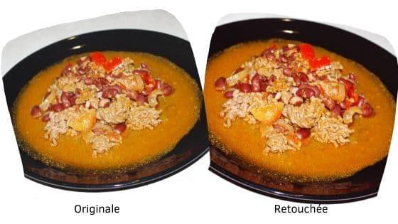 Exemple de retouche de photos : recette du Chili con Carne
