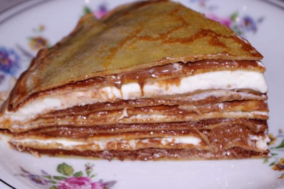 Recette du gâteau de crêpes aux trois chocolats
