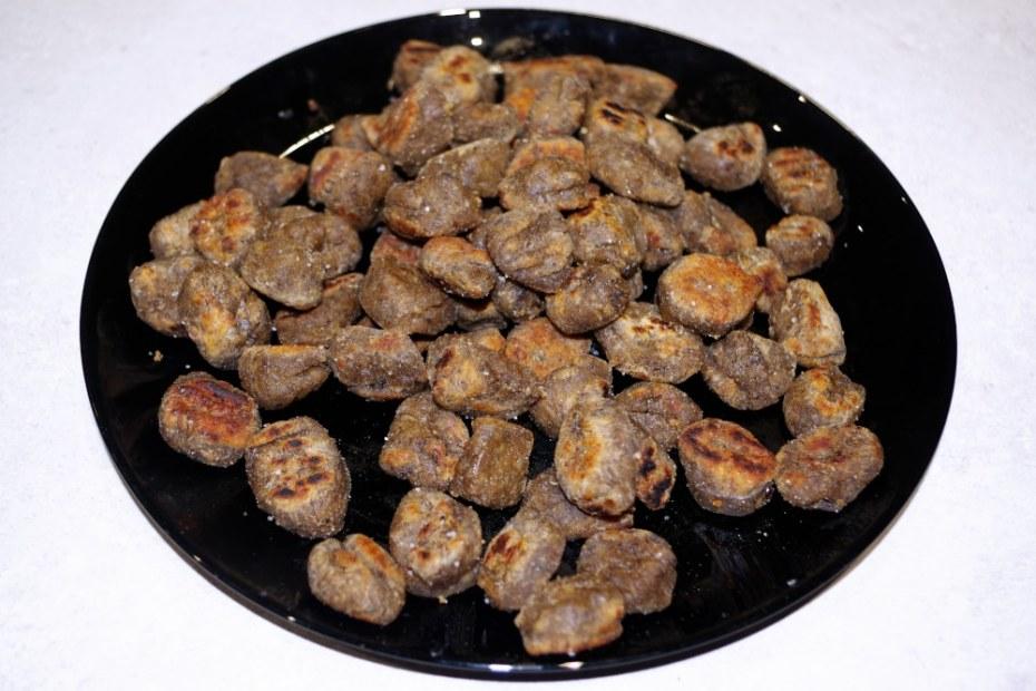 Recette facile à faire en famille : gnocchis de lentilles et champignons
