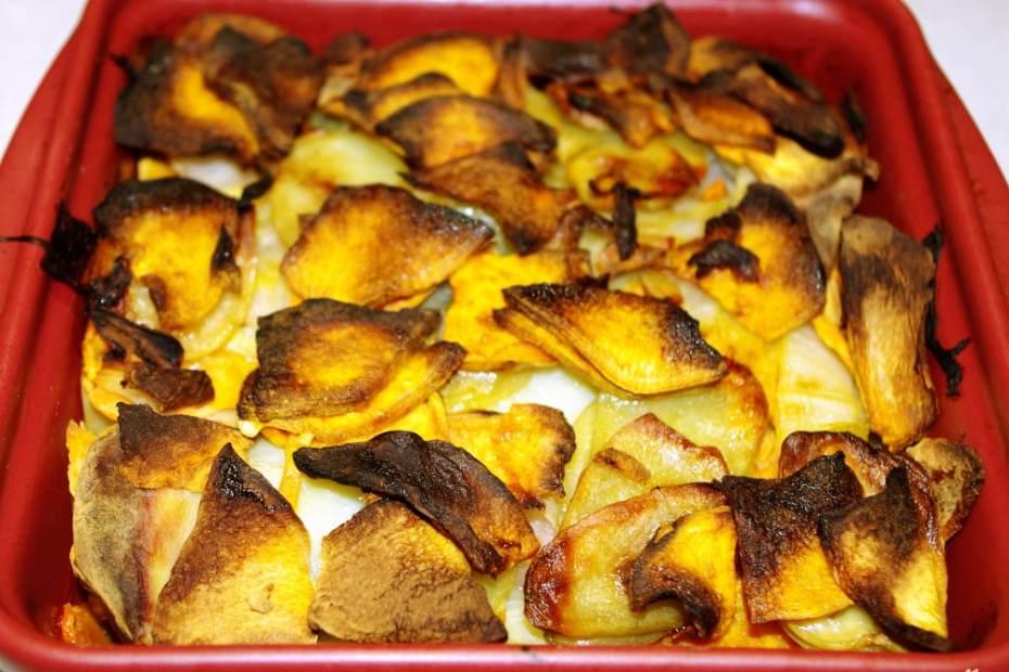 Recette de gratin de pommes de terres et patate douce
