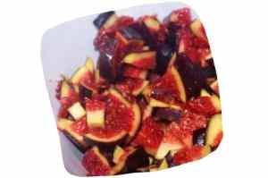 Recette de macaronis figues et noix : morceaux de figues