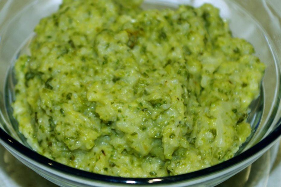 Recette de purée riz et chou frisé pour bébé