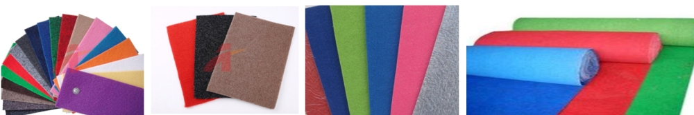 These are available in latex backed form for direct usage. • Plain Non-Woven Carpet • Non-Woven Carpet with Scrim • Random Velour Non-Woven Carpet