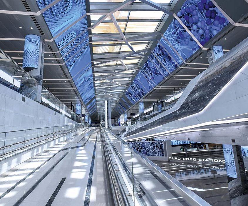 Dubai metro station EXPO 2020