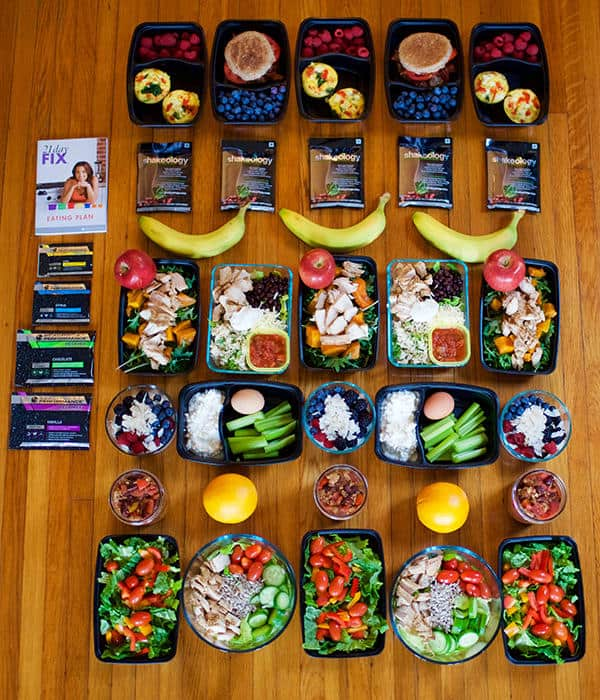 the meals of the 21 day fix