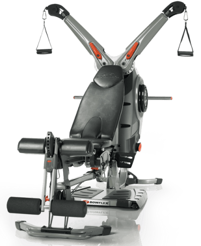 a front view of the bowflex revolution home gym