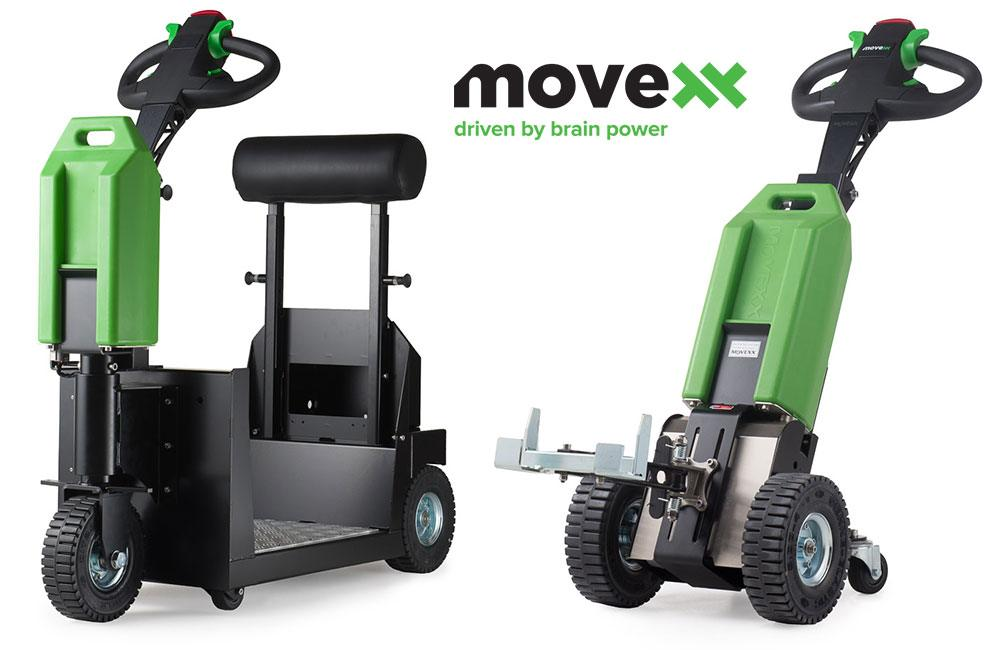 Movexx tuggers (push-pull assistants) come in a variety of sizes, all capable of pulling more than 1,000 pounds