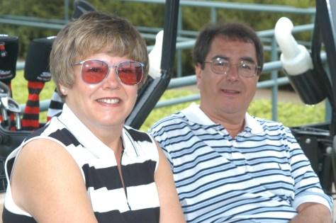 Gary Hilliard FTA Hall of Fame golfing with Ellen