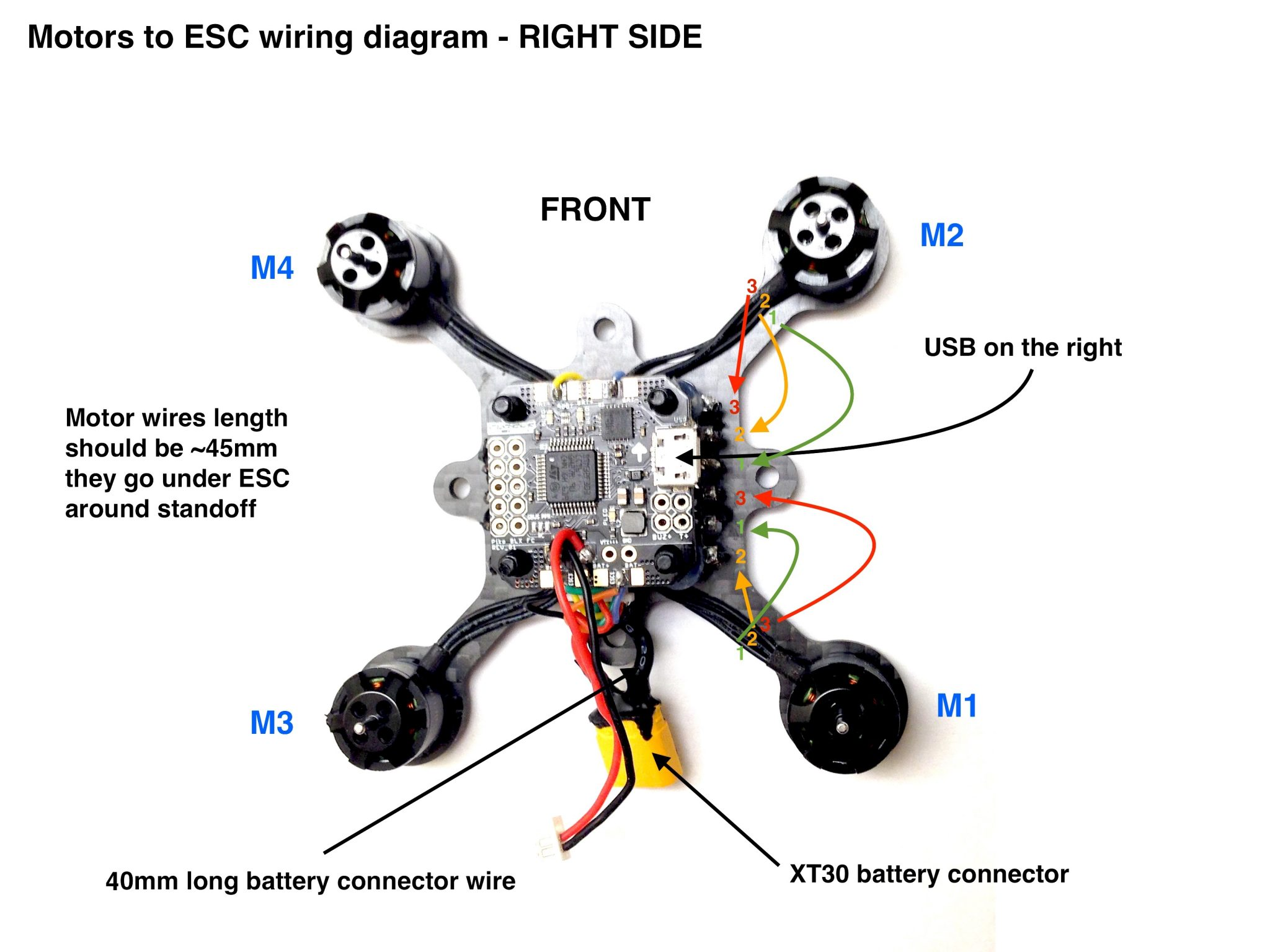 Quadcopter Motor Layout