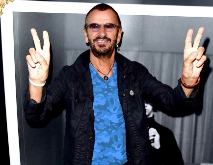 "LOS ANGELES, CA - SEPTEMBER 25: Musician Ringo Starr arrives at ""Ringo Star: In Conversation"" to discuss his book PHOTOGRAPH on September 25, 2015 in Los Angeles, California. (Photo by Kevin Winter/Getty Images)"