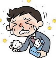秋の花粉症 鼻