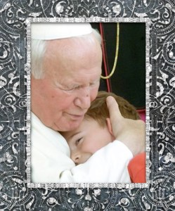 john paul ii with girl
