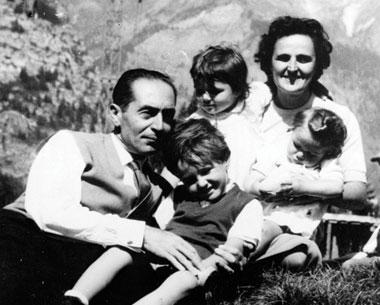 Saint Gianna and Pietro Molla with family