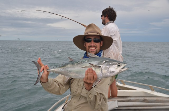 Worth the effort! The bluewater produces. Check out the bustups that Hamish is casting at in the background - amazing fishing.
