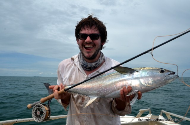 Eveything was going according to plan, including Hamish's Tuna on fly!