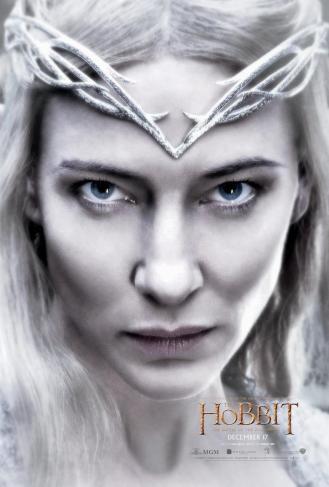 Cate Blanchett as Galadriel.
