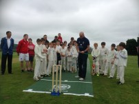Chris Rushworth offically opens the new pitch