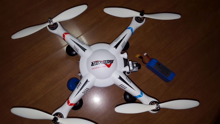 XK Detect V303 - X380 Hybrid Quadcopter FPV Build - Mods and Overview (video)