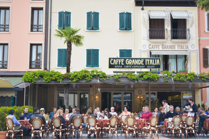 Caffe Grande Italia Sirmione, lake garda italy