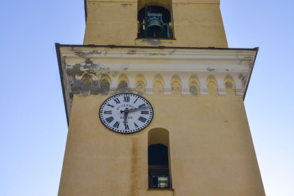 Cinque Terre Clock Tower yellow