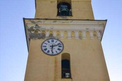 Cinque Terre Clock Tower yellow