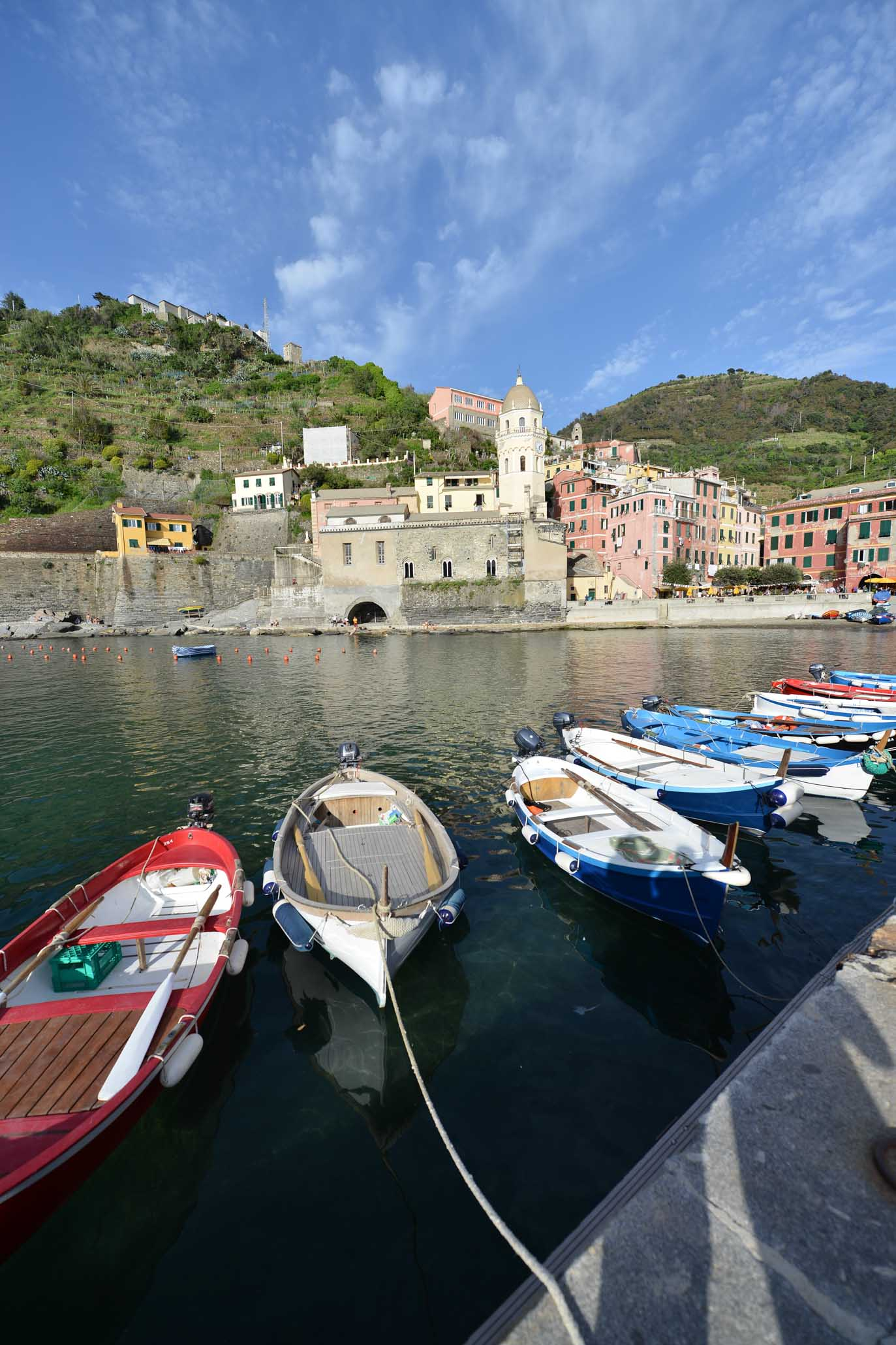 Cinque Terre, Liguria Italy boats, vernazza