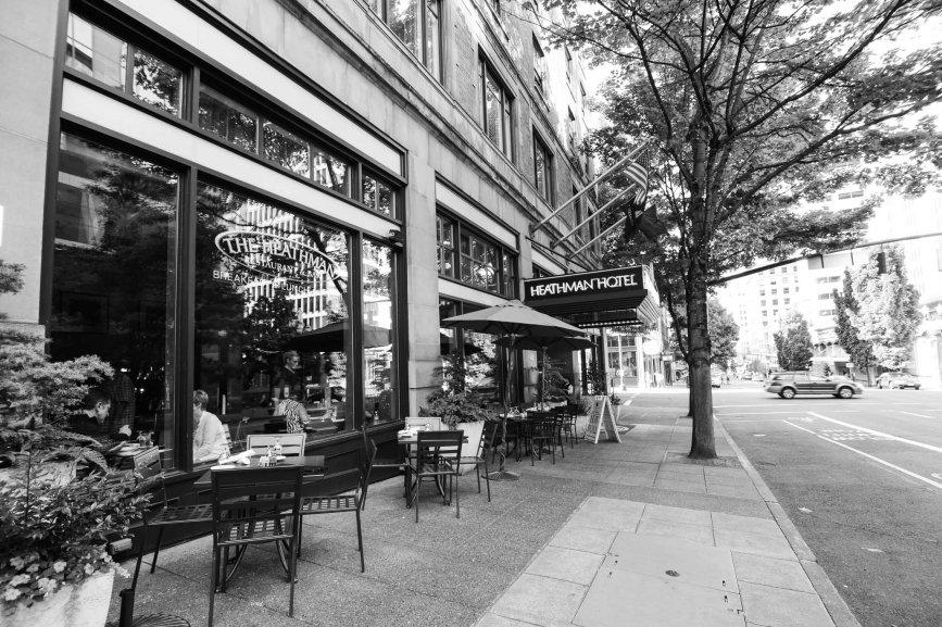 The Heathman Hotel Portland street view