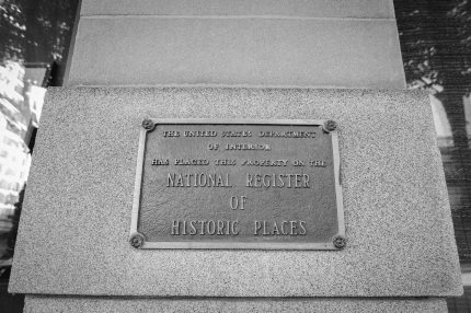 The Heathman Hotel Portland Historic places sign