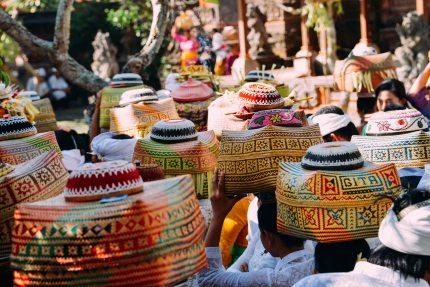Balinese celebrating Galungan 2014 in Ubud, Bali