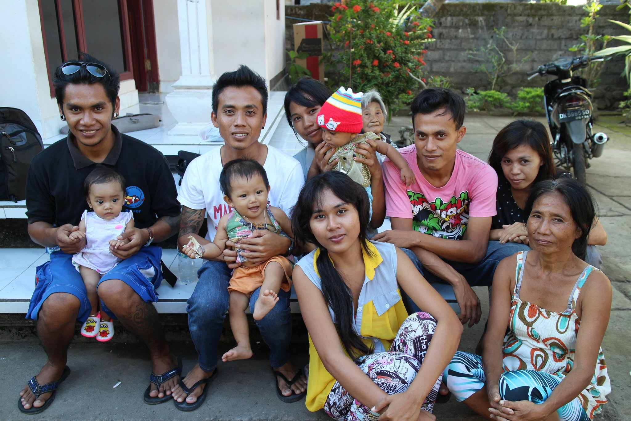 Gede and his family