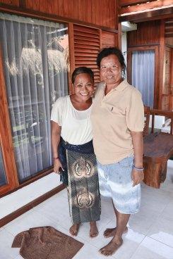 Me and Wayan, she lent me the sarong. Kuningan Day, May31 Nusa Lembongan