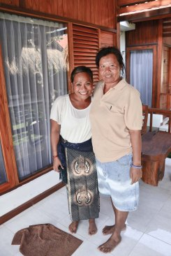 Me and Wayan, she lent me the sarong. Kuningan Day, May31 Nusa Lembongan