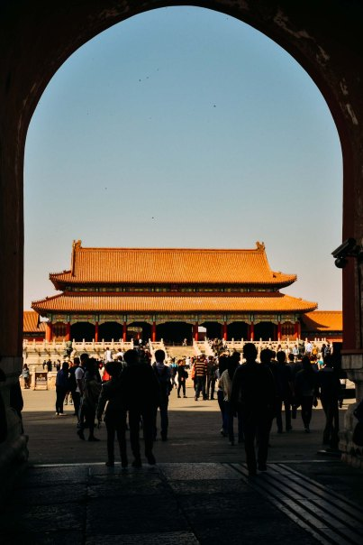 Entrance to the Forbidden Palace in Beijing