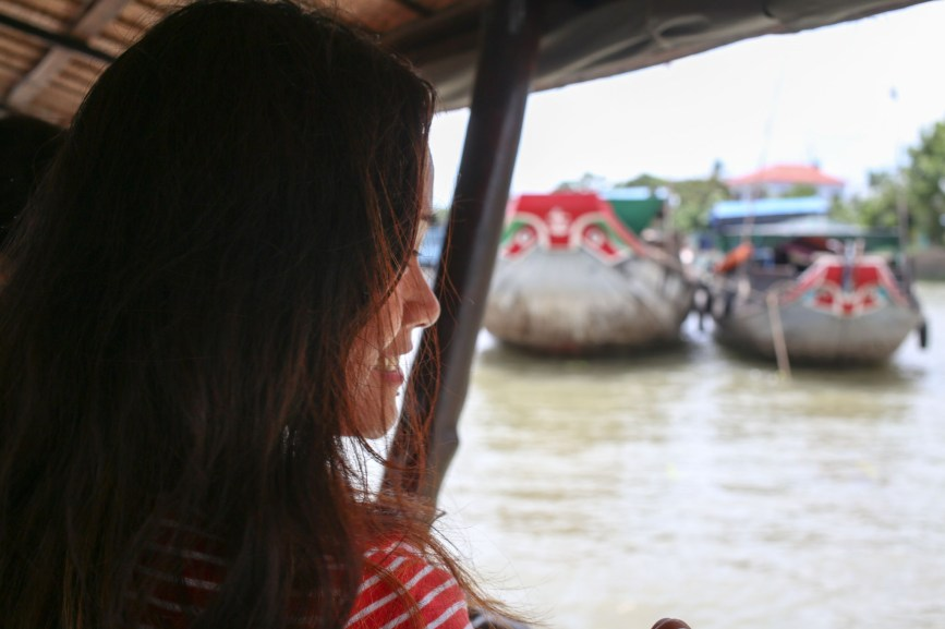 Celeste on Mekong cruise boat