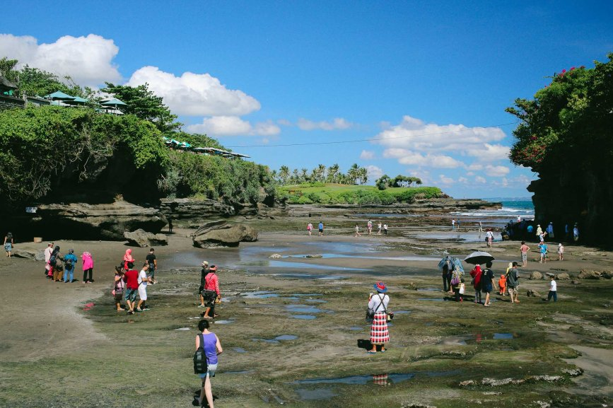 Tanah Lot, low tide