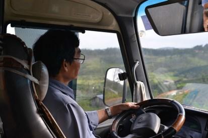 Bus Ride to Da Lat on Sinh Tourist