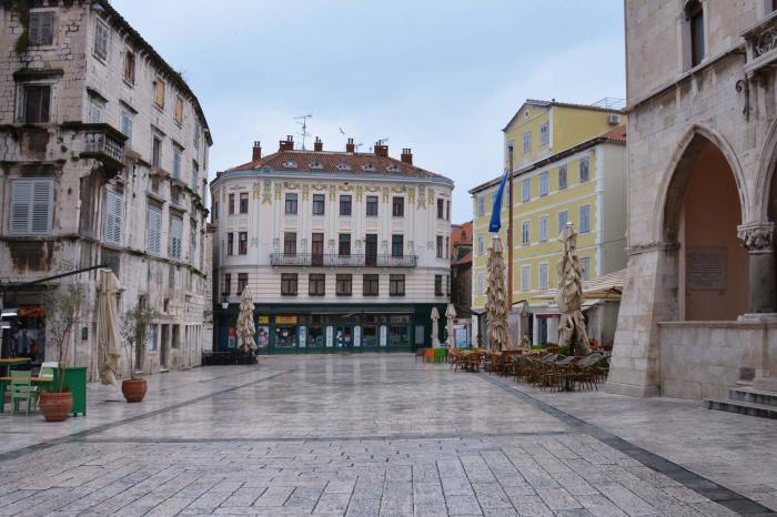 Empty square split croatia