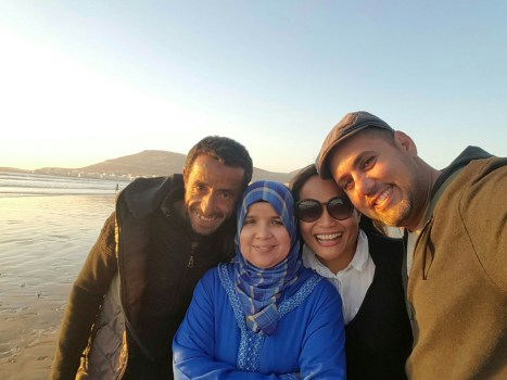 Salah and His Wife with Us