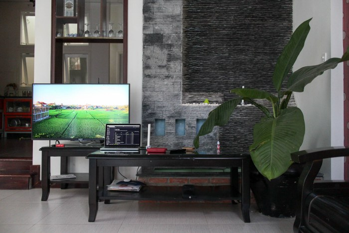 Our entertainment setup