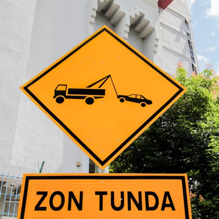 KL Tow Away Sign