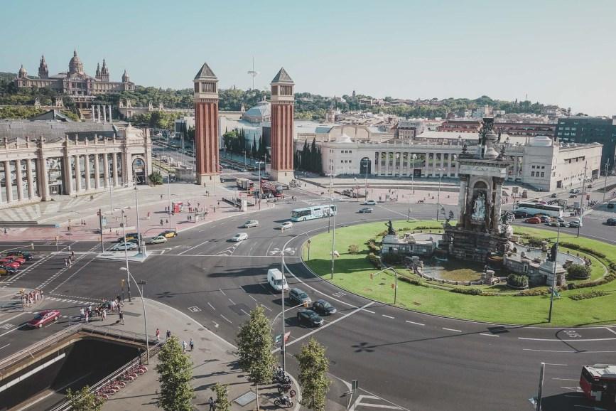 Plaça de Catalunya is walking distance from our apartment