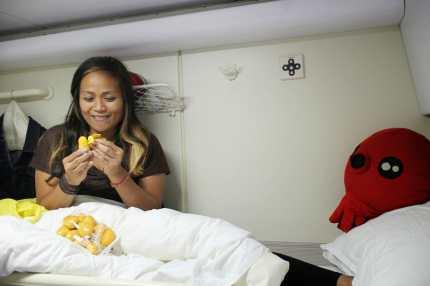 Snacking on baby mangos