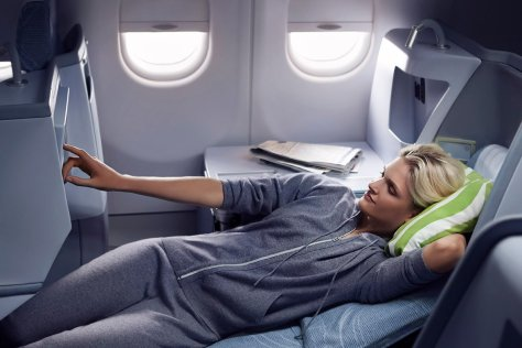 Finnair business woman resting 01 Low