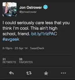Ostrower Tweet