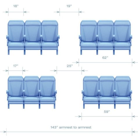 A320 Family Seating Configuration - Economy Class, Image Airbus