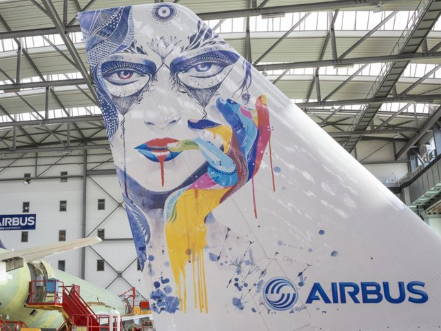The application of complex, large-scale liveries on aircraft presents a considerable challenge – particularly as airlines develop increasingly artistic and complex ways to express their identities./Airbus