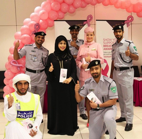Etihad Airways  Breast Cancer Awareness Month Photo 1
