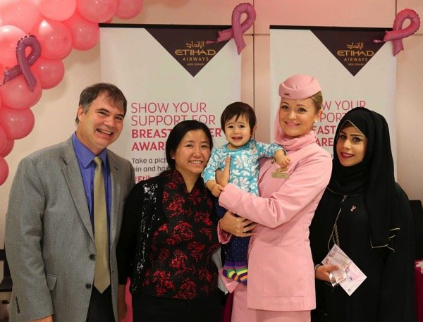 Etihad Airways  Breast Cancer Awareness Month Photo 2