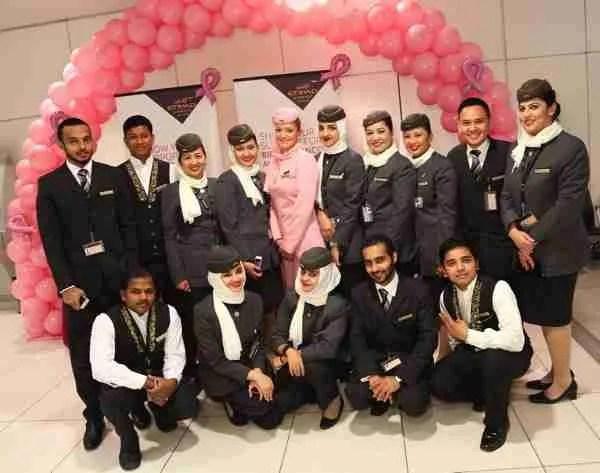 Etihad Airways  Breast Cancer Awareness Month Photo 3 2